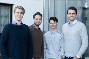 Guttene bak Islero (f.v) Alexander Andfossen, Morten Dobloug, Mathias Ose og Frede L. Fardal. Foto: Jonas Frøland