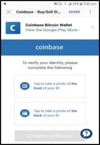 verifisere ID coinbase