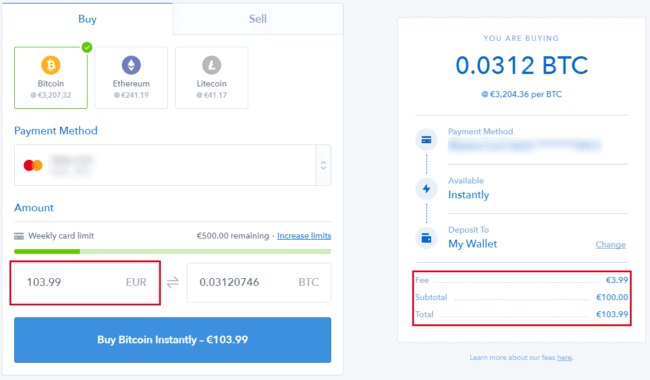 hvordan kjøpe bitcoin i coinbase