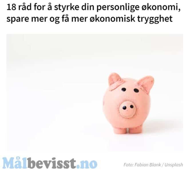 gode råd for å spare penger