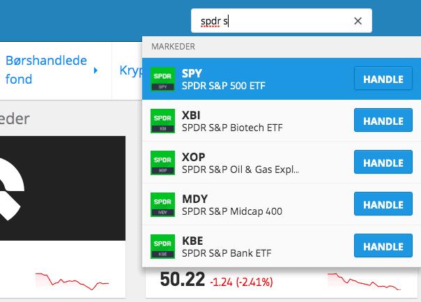 SPDR S&P 500 ETF eToro søk