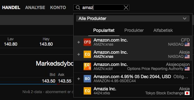 SaxoTraderGo Amazon