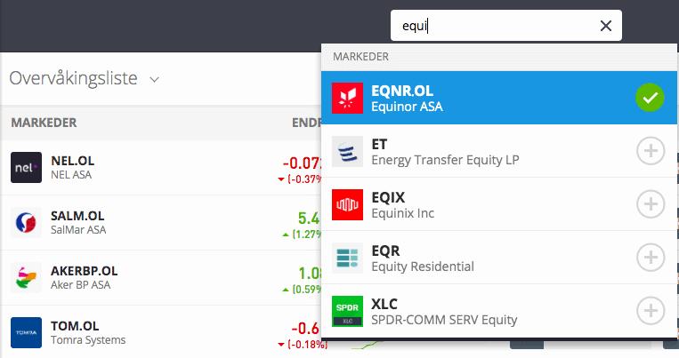 equinor handel etoro