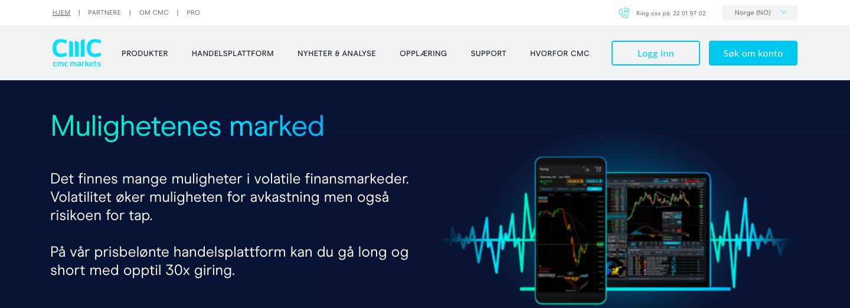 Startside CMC Markets