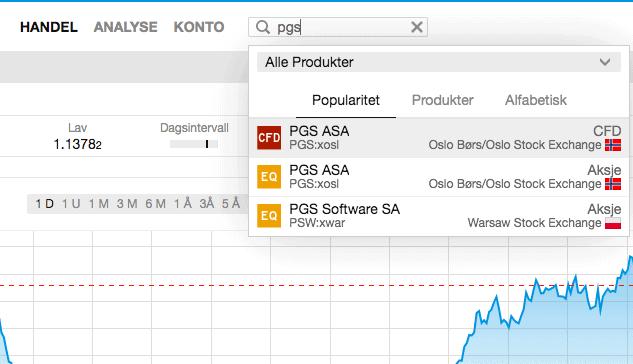 PGS handel SaxoTraderGo