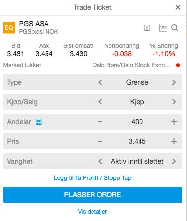 Kjøp PGS SaxoTraderGo