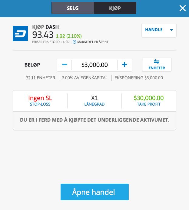 kjøp dash etoro