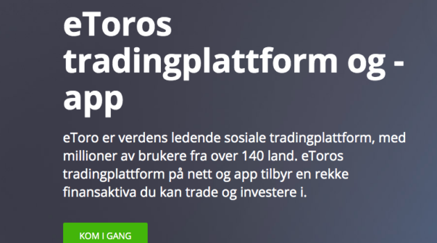 beste trading platform norge etoro