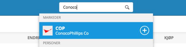 kjøp conocophillips aksjer