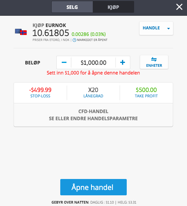 swing trading norge