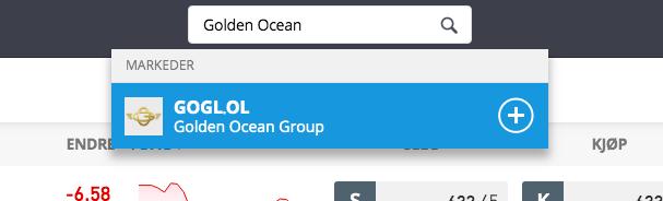 golden ocean group aksjer