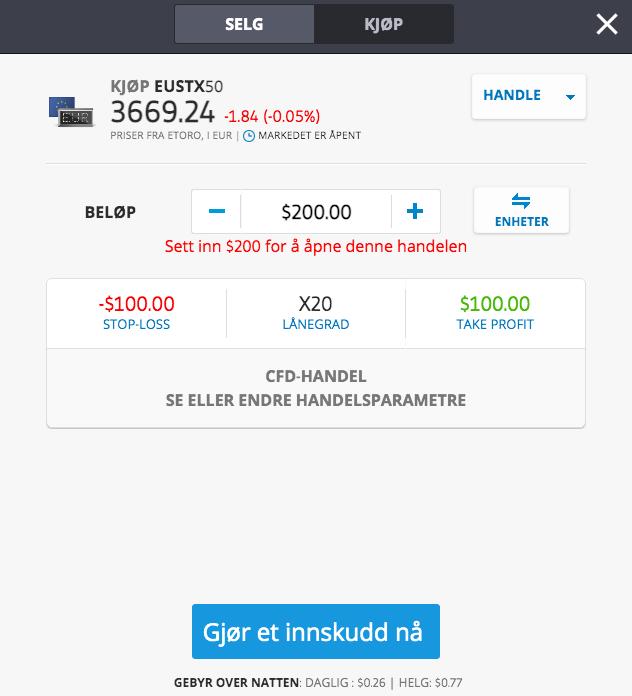 invester i euro stoxx 50