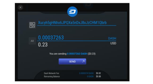 sende bitcoin exodus wallet