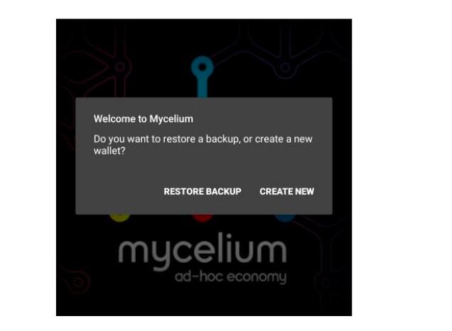 mycelium wallet opprett konto