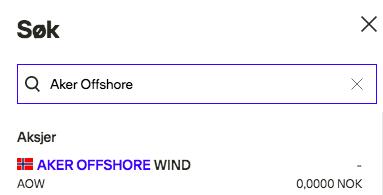kjøp aker offshore wind aksjer