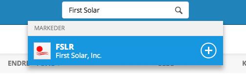 kjøp first solar aksjer