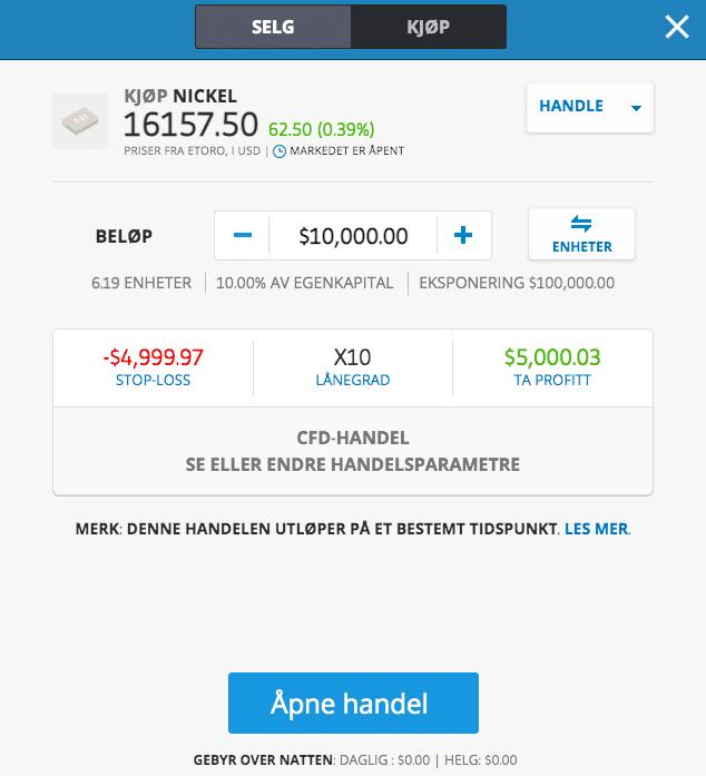 investere i nikkel