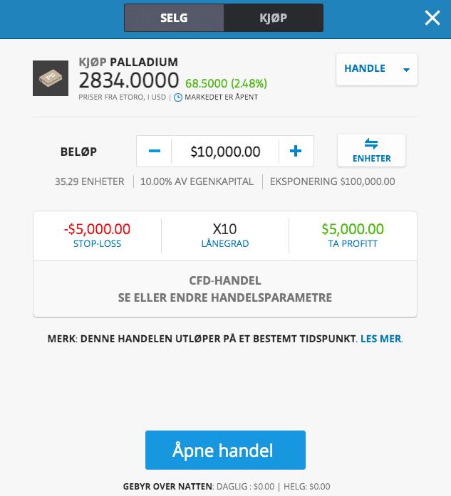 investere i palladium