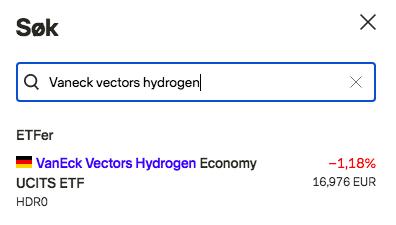 invester i hydrogen etf