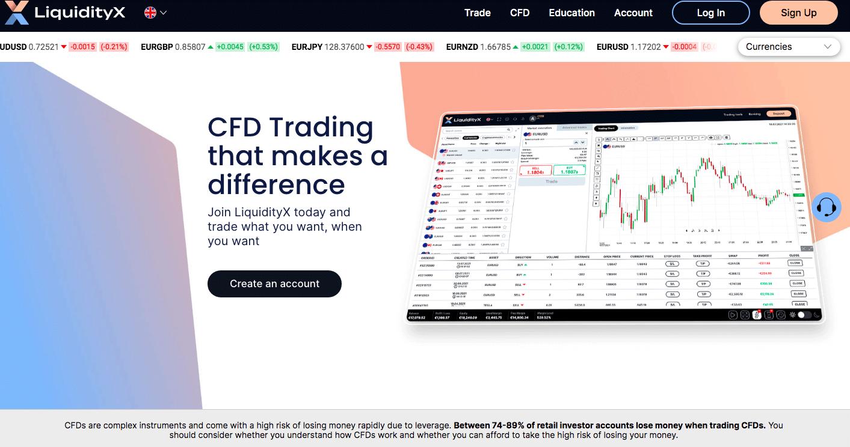 liqudityx er nylig lansert med kurtasjefri CFD handel